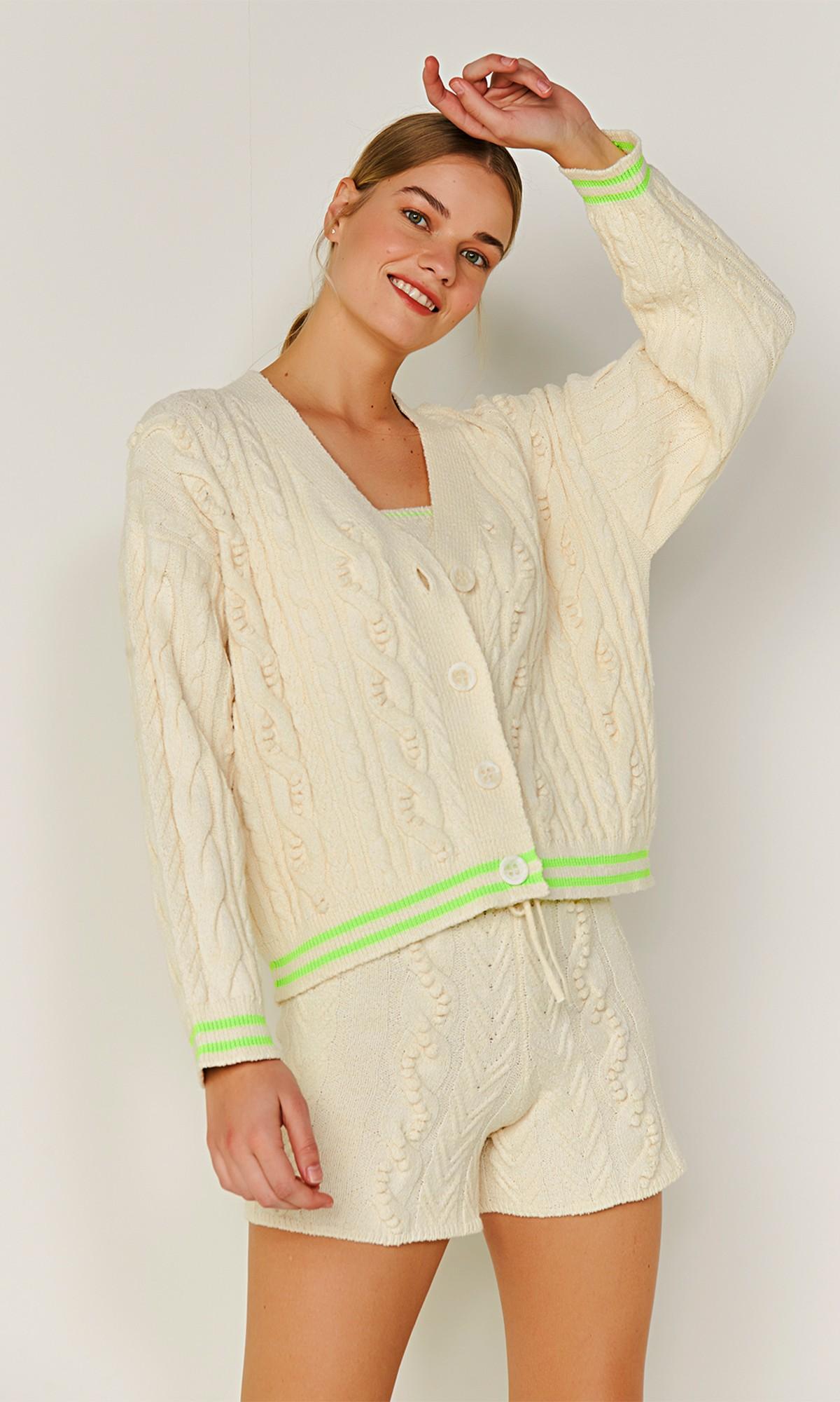 Sweter rozpinany, w kolorze...