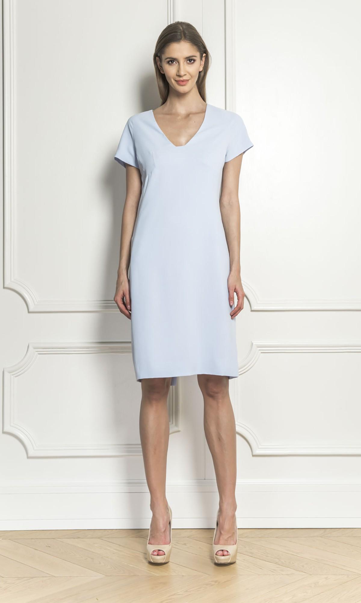 Sukienka z zamkiem, w kolorze niebieskim