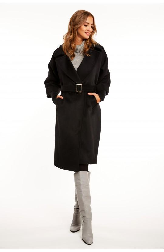 Płaszcz zimowy w kolorze czarnym - 267