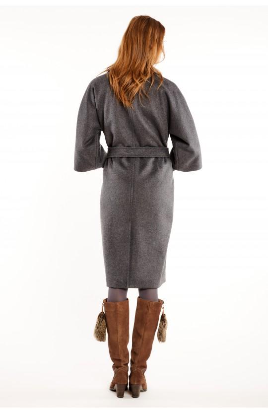 Płaszcz w ciemnoszarym kolorze - 267