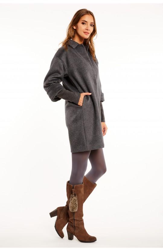 Płaszcz w ciemnoszarym kolorze - 268