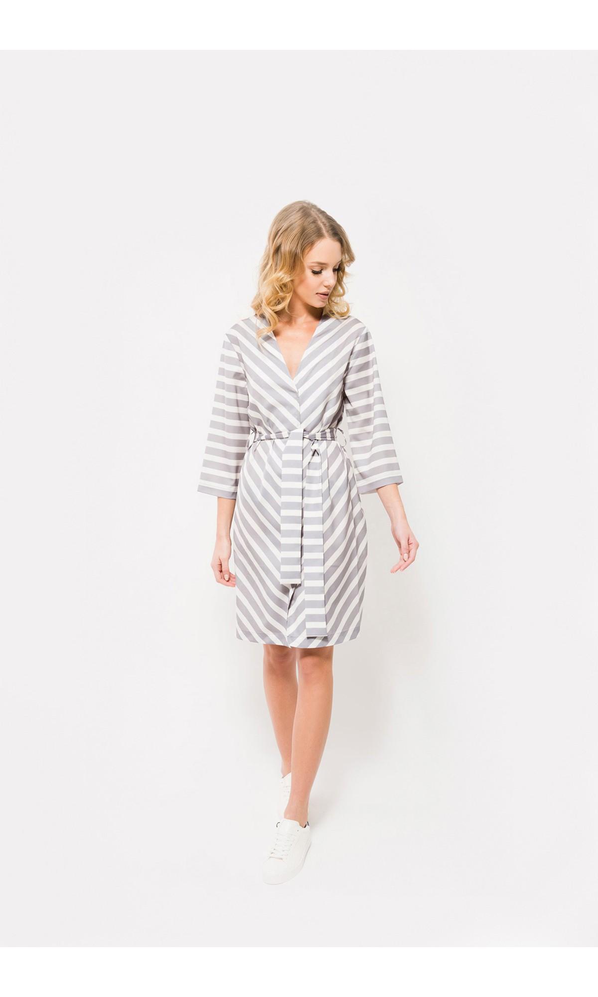 Sukienka kopertowa w paski