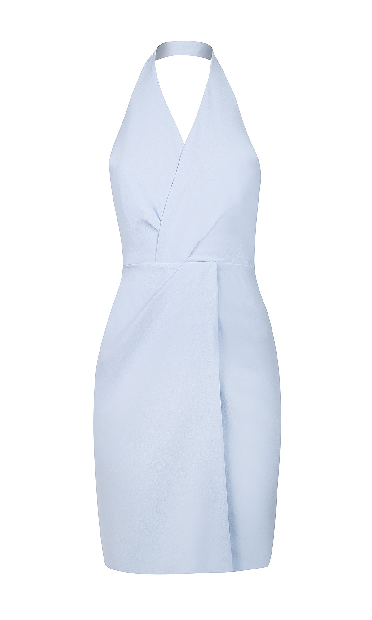 Sukienka kopertowa w kolorze niebieskim