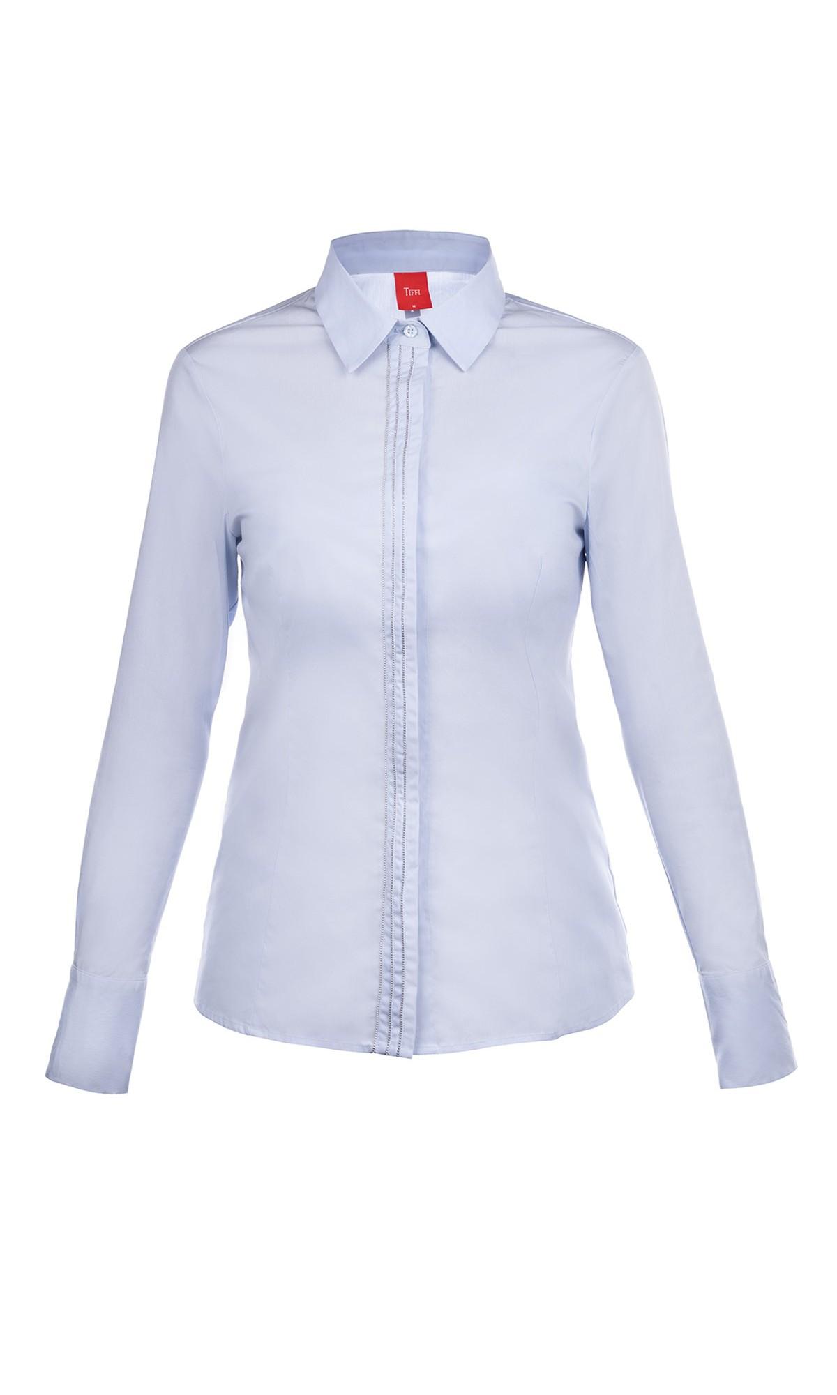Koszula w kolorze niebieskim z listwą ozdobną