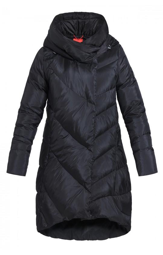 Kurta zimowa Tiffi w kolorze czarnym, długa z kapturem