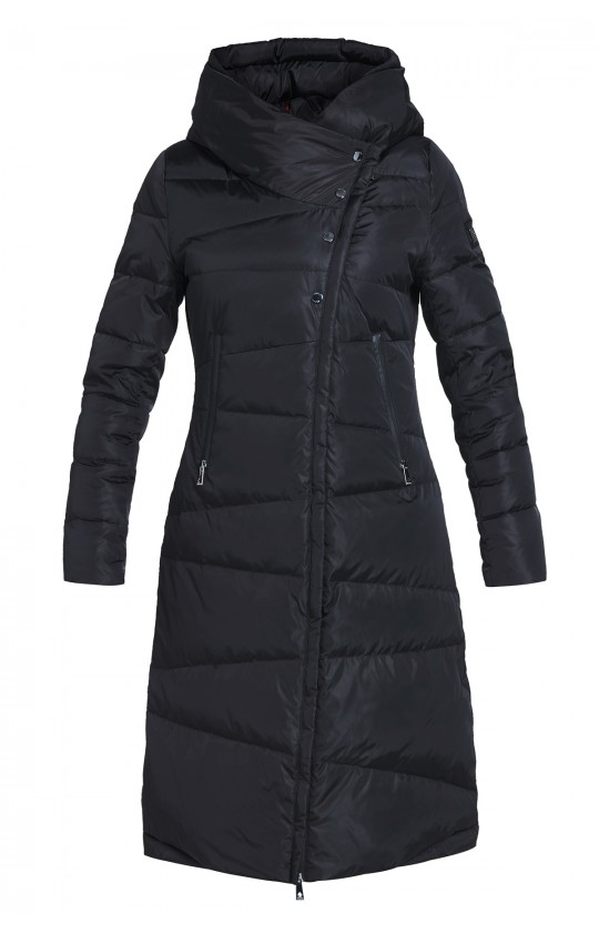 Kurtka zimowa Tiffi w kolorze czarnym z kapturem, puchowa długa