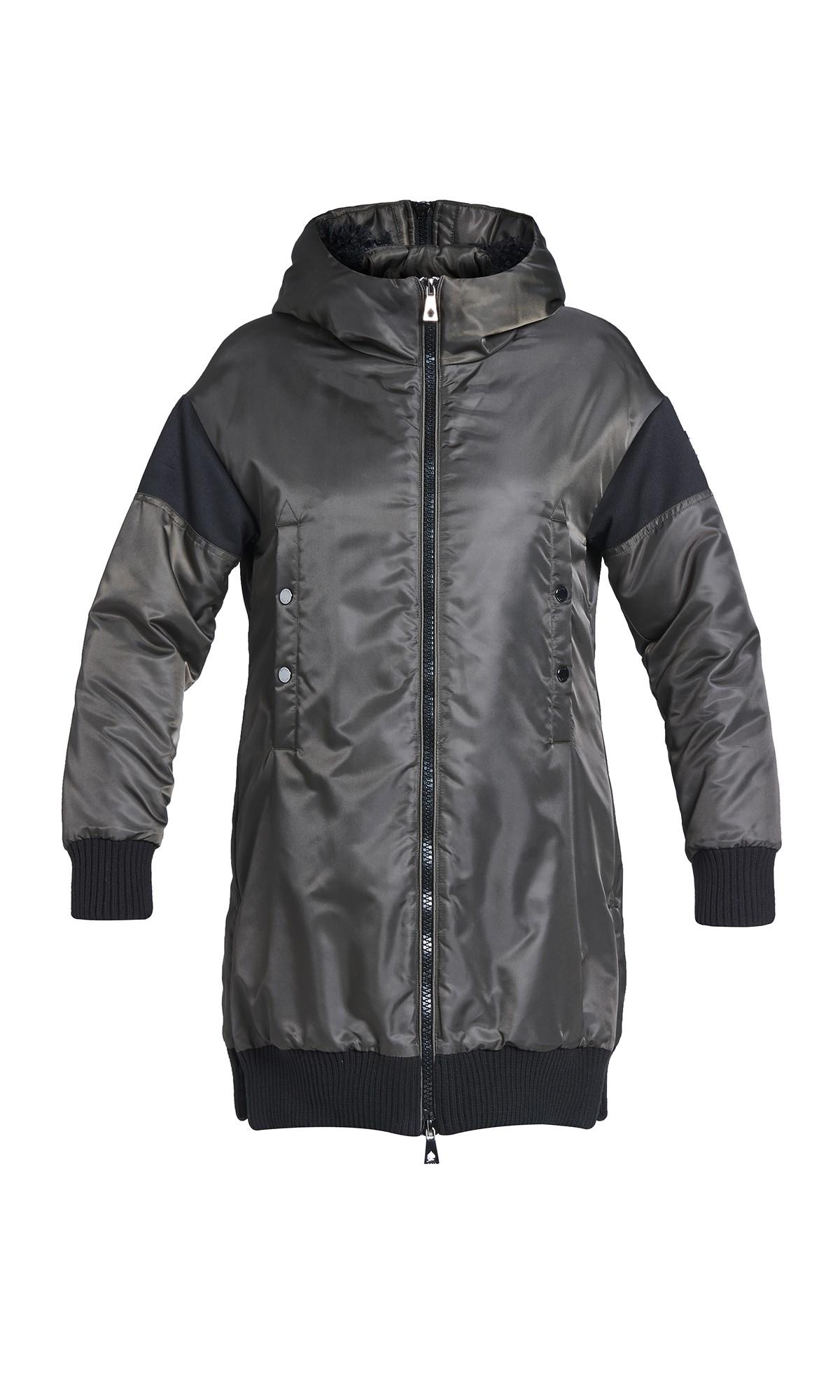 Kurtka zimowa Tiffi w kolorze khaki z kapturem