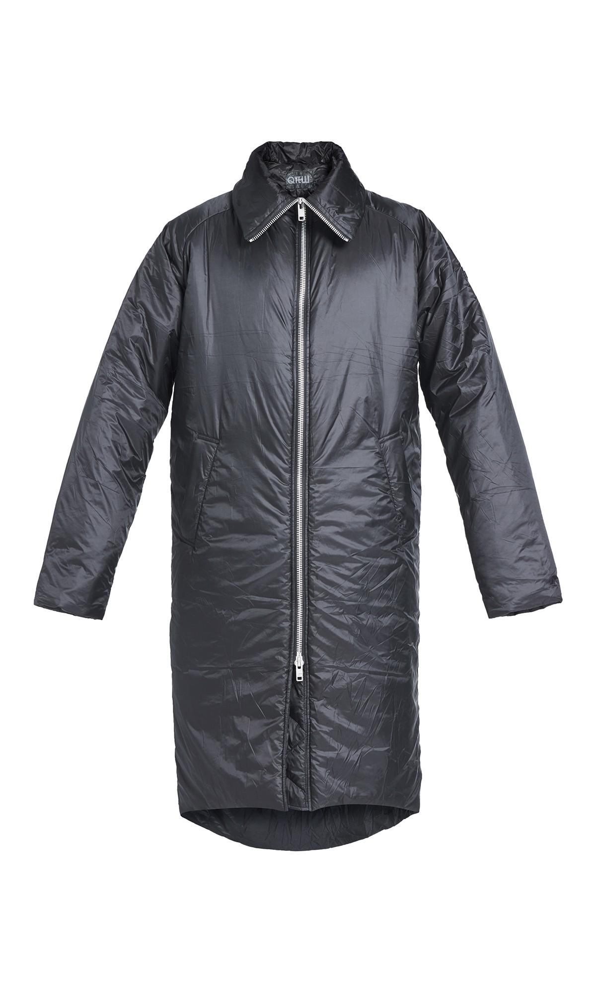 Długi Płaszcz Kupisza x Tiffi, w kolorze  czarnym, unisex