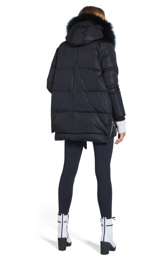 Kurtka zimowa TIFFI z kapturem, w kolorze czarnym, puchowa